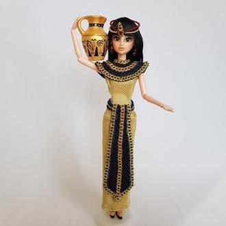 Кукла египтянка Клеопатра с кувшином коллекционная