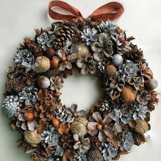 Рождественский и новогодний венок