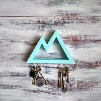 Настінна ключниця Mountains turquoise