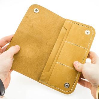Кожаный кошелёк-портмоне из натуральной кожи+КЛЮЧНИЦА В ПОДАРОК!!!