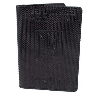 """Обложка на паспорт кожаная """"Герб"""" черная"""