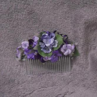 Гребешок в голову из цветов