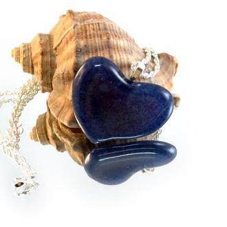 """Кулон из стекла """"Сердце"""". Подвеска из стекла. Украшение.  Бижутерия из стекла.  Подарок из стекла."""