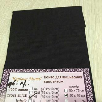 Канва Белорусская К6 двойного кручения (60кл./10 см) соответствует Аида 16
