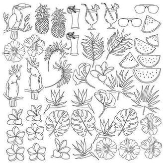 """Лист для для раскрашивания маркерами """"Tropical paradise"""" (30,5x30,5см)"""