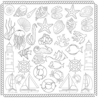 """Лист для для раскрашивания аква-чернилами """"Sea breeze"""" (30,5x30,5см)"""