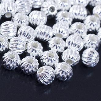 Бусины разделители металлические, круглые, 7мм, сереро УТ0027751