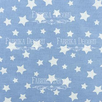 Отрез ткани 25х55 Голубые звезды