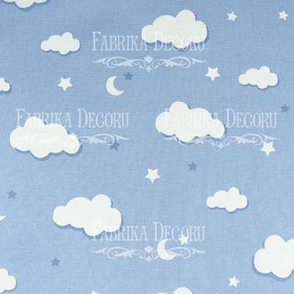 Отрез ткани 25х55 Голубые облака