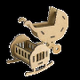 3D Заготовка фигурки для оформления шедоубокса №57