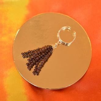 Серебряное кольцо с кистью из граната