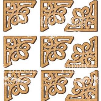 Набор декоративних элементов для шедоубокса №93
