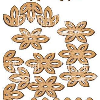 Набор декоративних элементов для шедоубокса №106