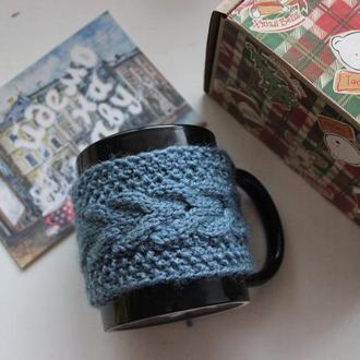 Грелка начашки, свитер на чашку, грелка для чашки