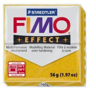 Полимерная глина FIMO Effect, с блестками золото (56г) STAEDTLER. 112/8020