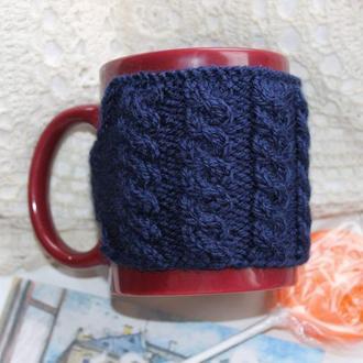 Грелка на чашки, свитер на чашку, грелка для чашки