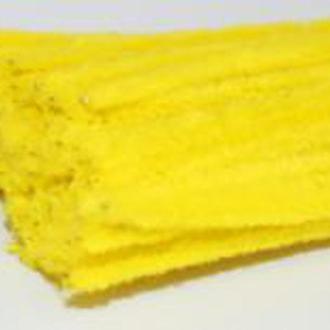 Синельная проволока желтая пушистая