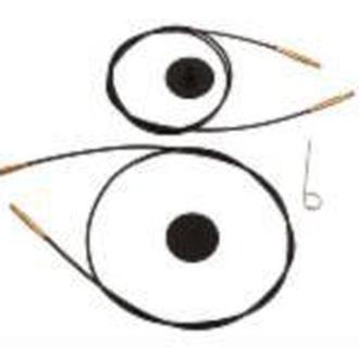 Кабель черный с позолотой  для создания круговых спиц  KnitPro