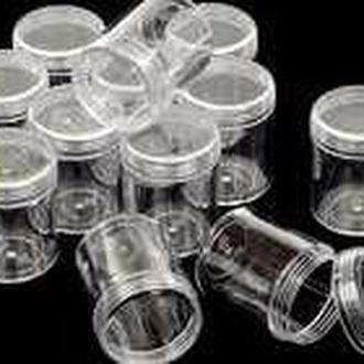Контейнер (органайзер) баночка d=2,5см для бисера и мелочей. Цвет - прозрачный