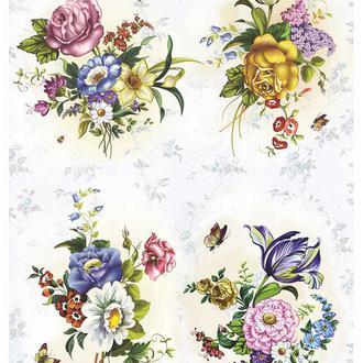 Декупажная карта Розы Краски Цветы Винтаж 56V 55 г/м2, А4, 210Х290 мм