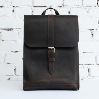 Кожаный рюкзак унисекс Minimal ULTRA коричневого цвета