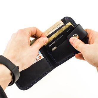 Кожаный кошелёк из натуральной кожи  Revier идеальный подарок на любой повод