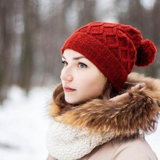 Терракотовая шапка