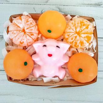 """Сувенирное мыло, набор """"Свинья в апельсинах"""""""