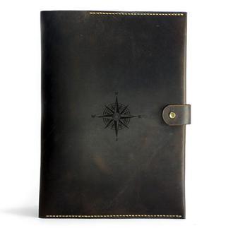 Кожаная папка для документов А4 — коричневая