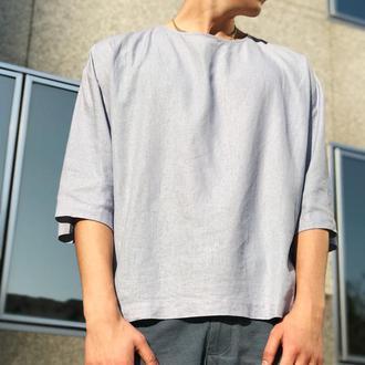 Оверсайз футболка из льна