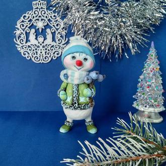 Снеговик с шариками.