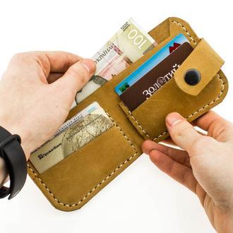 Кожаный кошелёк из натуральной кожи  Revier на 14 октября, подарок на день защитника Украины