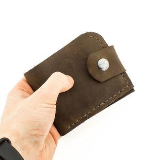 Кожаный кошелек из натуральной кожи+КЛЮЧНИЦА В ПОДАРОК!!!