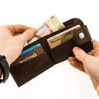 Кожаный кошелек из натуральной кожи  Revier идеальный подарок на любой повод