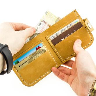 Кожаный кошелёк-портмоне из натуральной кожи  Revier идеальный подарок на любой повод