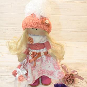 Кукла текстильная с подарком