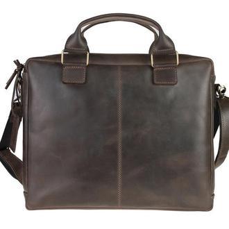 Кожаный мужской портфель для документов. Кожаная мужская сумка