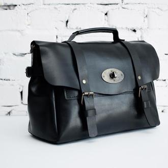 Женская кожаная сумка Classy черного цвета