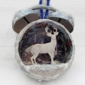 Новогоднее елочное украшение Будильник Подарок на новый год