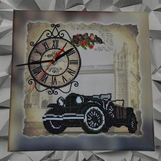 Часы, картина бисером