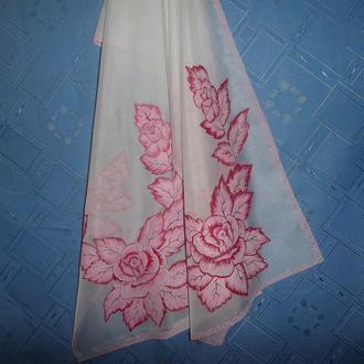 лёгкий шарф росписью