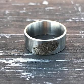Кольцо с отпечатком пальца