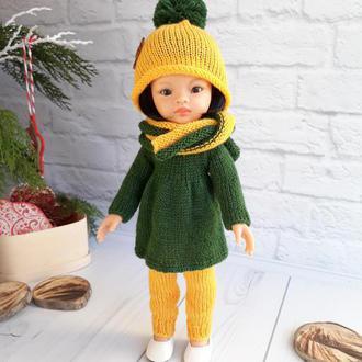 Одежда на куклу Паола Рейна 32 см Вязаный комлект на куклу
