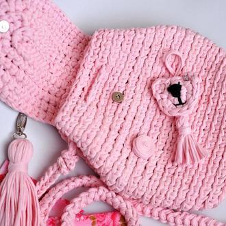 Розовый рюкзачок