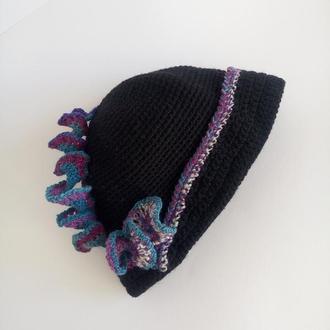 Шляпка клош вязаная в винтажном стиле. Шляпки  Ретро -1920 годы