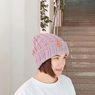 шапка из мериносовой шерсти