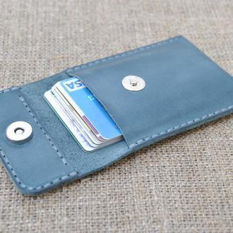 Кардхолдер из синей кожи KAR01-660