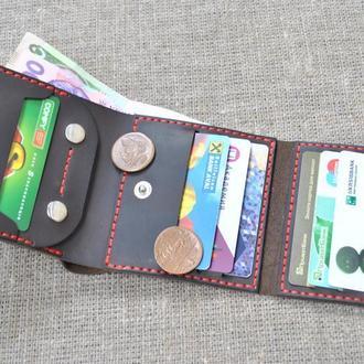 Вместительный кошелек из кожи K52-450+red