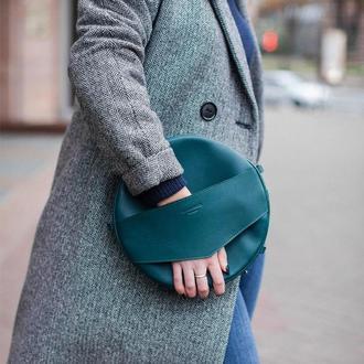 Круглая сумка-рюкзак maxi Малахит