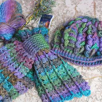Комплект шапка-берет и шарф